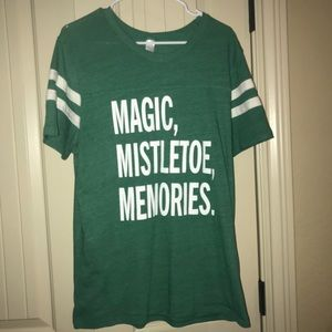 Short Sleeved Christmas T-Shirt Green from LUSH